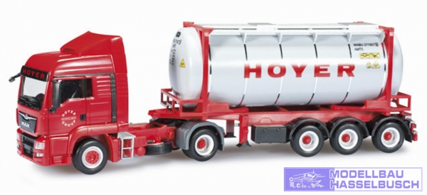 "MAN TGS LX Euro 6 Tankcontainer-Sattelzug ""Hoyer"""