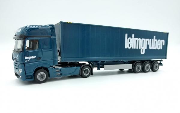 """Mercedes-Benz A Giga 40ft Highcube Kühlcontainersattelzug 2/3a """"Leimgruber"""" (Sondermodell Schweiz)"""