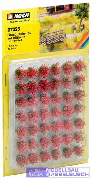 """Grasbüschel Mini-Set XL """"blühend"""", rot"""