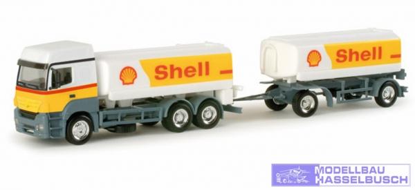 """Mercedes-Benz Axor Benzintank-Hängerzug """"Shell"""""""