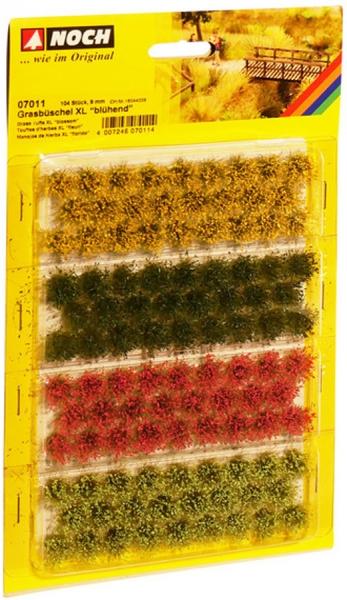 """Spur Neutral Grasbüschel XL """"blühend rot, gelb, hell- und dunkelgrüngrün"""""""