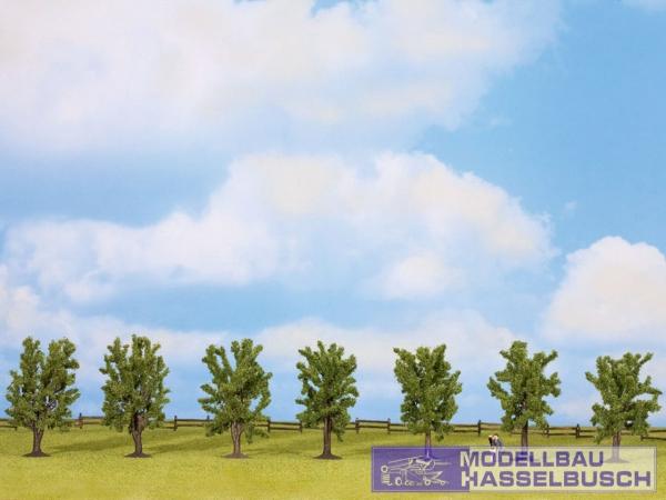 Laubbäume, 7 Stück, ca. 8 cm hoch