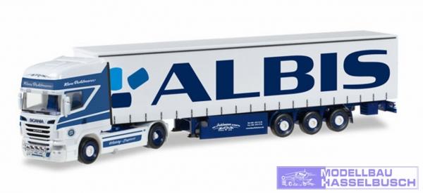 "Scania R TL Gardinenplanen-Sattelzug ""Pohlmann / Albis"""