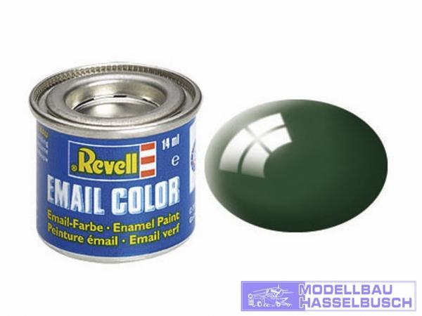 moosgrün, glänzend