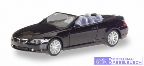 BMW 6er Cabrio, schwarz