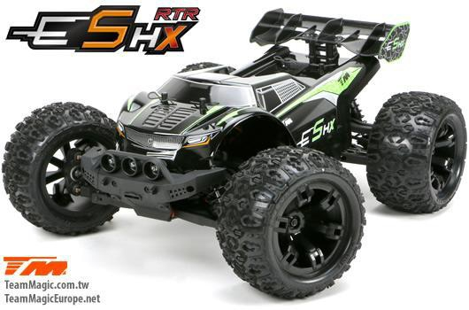 Monster - 4WD - RTR - Brushless - Wasserdicht - Team Magic E5 HX - Schwarze/Grüne Karosserie
