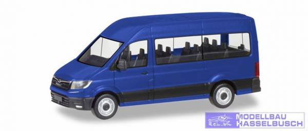 MAN TGE Bus, ultramarinblau