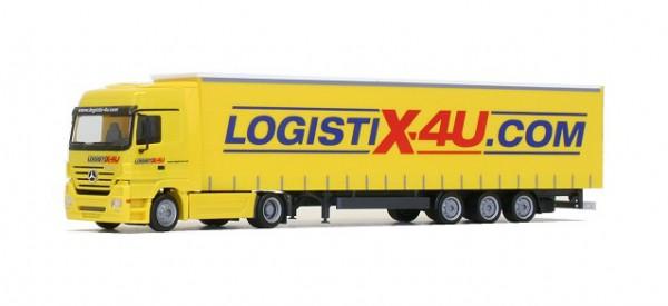"Mercedes-Benz Actros LH Jumbogardinenplanen-Sattelzug ""Logistix4U"""