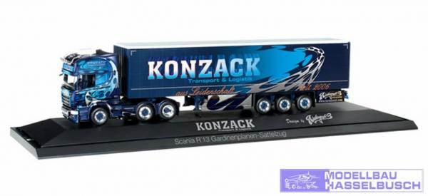 """Scania R TL Gardinenplanen-Sattelzug """"Konzack"""""""
