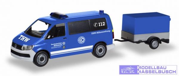 VW T6 Bus m. Anhänger THW Korb