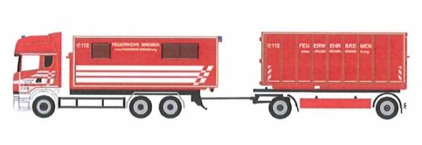 """Scania 13TL Abrollmulden Hängerzug - Feuerwehr Bremen AB Unterkunft & U Boxx"""""""