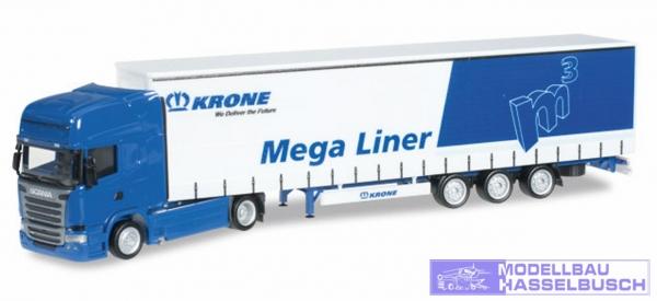 """Scania R TL Gardinenplanen-Sattelzug """"Krone"""""""