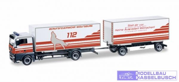 MAN TGA XL Wechselkoffer-Hängerzug Feuerwehr Wolfsburg
