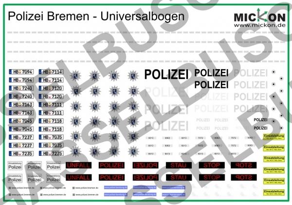 """Polizei Bremen Decals - """"Funkstreifenwagen"""""""