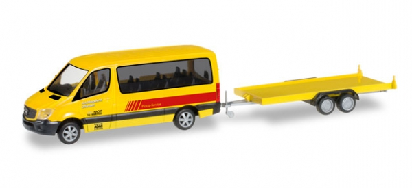 """Mercedes-Benz Sprinter Bus mit PKW-Transportanhänger """"ADAC Rückholdienst"""""""