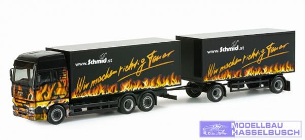 MAN TGA XXL Koffer-Hängerzug Schmid Kachelöfen