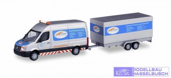 """Volkswagen Crafter Kasten Hochdach mit Tandem-Koffer-Anhänger """"SABA Transportservice"""""""