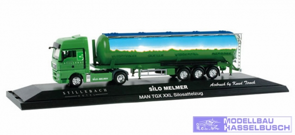 "MAN TGX XXL Silo-Sattelzug ""Melmer Stillebach"", (A) in PC-Box"