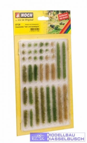 Grasstreifen - hell- und dunkelgrün