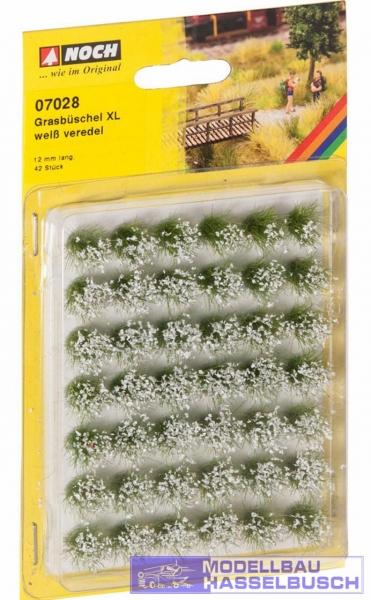 """Grasbüschel Mini-Set XL """"blühend"""", weiß"""