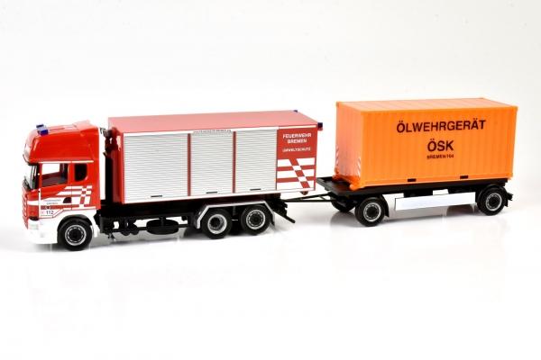 """Scania 13TL Abrollmulden Hängerzug - Feuerwehr Bremen """"Umweltschutz & Ölwehrgerät"""""""
