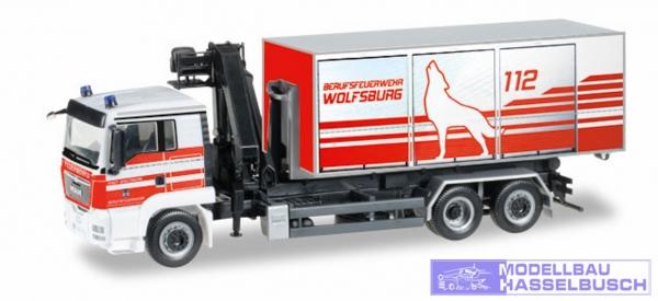 """MAN TGS L o 5 Wechsellader-LKW mit Kran """"Feuerwehr Wolfsburg"""""""