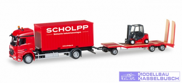 """Mercedes-Benz Arocs Container-LKW mit TU3 und Gabelstapler """"Scholpp"""""""