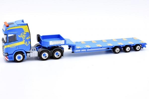 """Scania CR HD Semitieflader-Sattelzug """"Wittwer Wattenwil"""" Sonderauflage Handel Schweiz"""