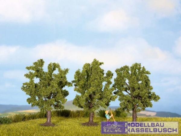 Obstbäume, grün, 3 Stück, 8 cm hoch