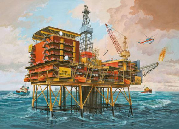 Revell Ölbohrinsel - Off-Shore Oilrig North Cormorant