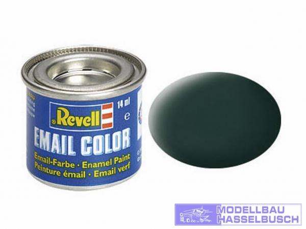 schwarzgrün, matt