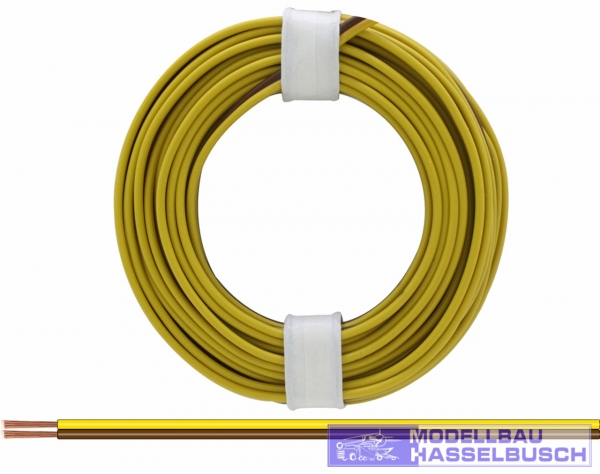 218-38 - Zwillingslitze gelb-braun 5m