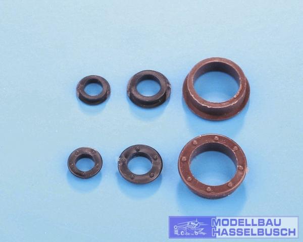 Bullaugen 4 mm Kunststoff (50)