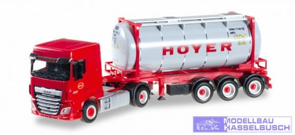 "DAF XF SC o 6 Chemietankcontainer-Sattelzug ""HOYER"""