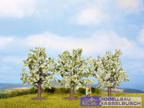Obstbäume, weiß blühend, 3 Stück, 8 cm hoch