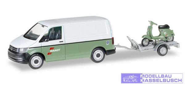 """VW T6 Kasten mit Anhänger und Vespa """"Spedition Wandt"""""""