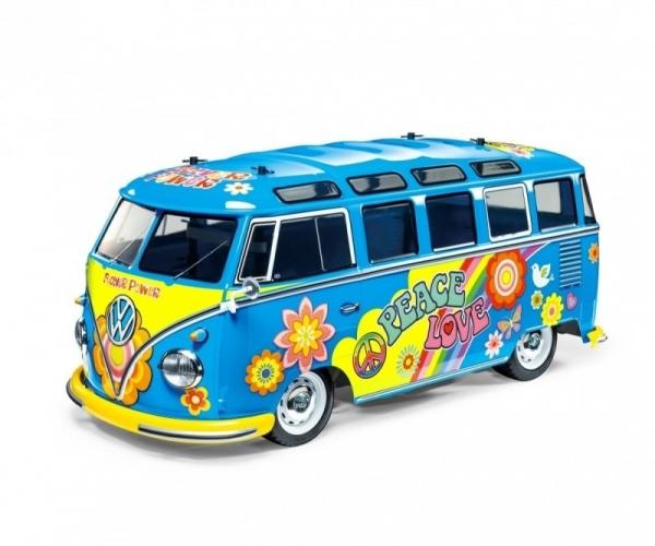 Tamiya: RC VW Bus Type2 T1 Flower - Lackierte Karosse 1:10