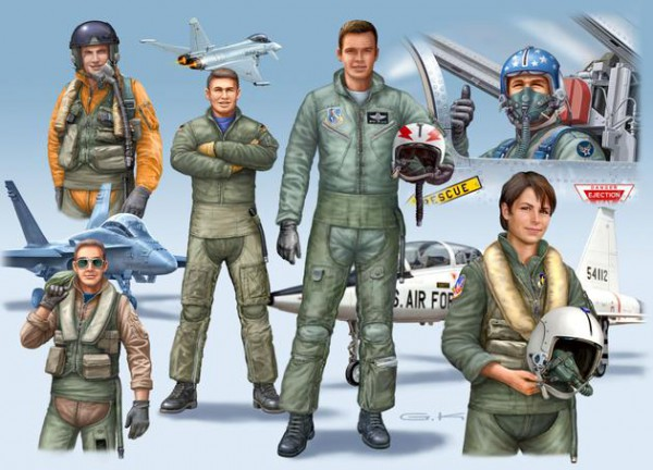Revell Nato Pilots (D/GB/USA) modern