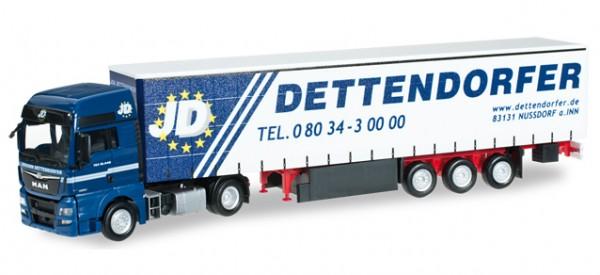 "MAN TGX XXL Euro 6 Gardinenplanen-Sattelzug ""Dettendorfer"""