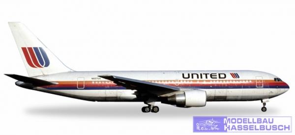 B767-200 United Rainbow colors