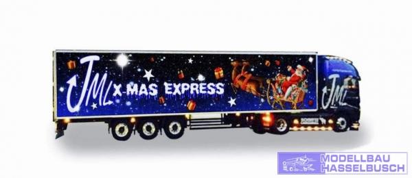 Janina Martik Logistik Weihnachtstrucker Volvo FH Globetrotter XL Kühlauflieger