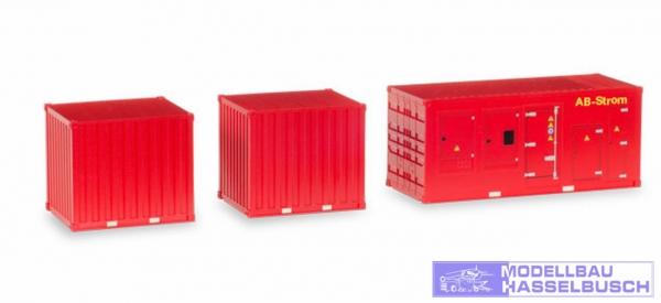 """Zubehör 1 x Stromaggregat und 2 x 10 ft. Container """"Feuerwehr"""""""