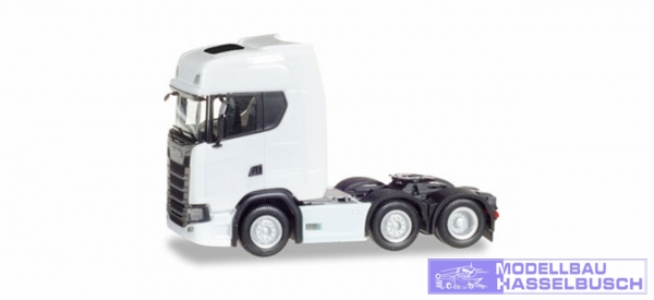 Scania CS20 HD 6x2 Zgm, weiß