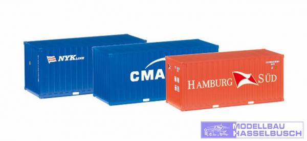 "Container-Set 3x20 ft. ""NYK / CMA/CGM / Hamburg Süd"""