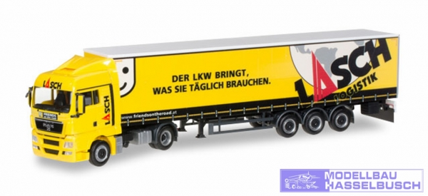 "MAN TGX XLX Gardinenplanen-Sattelzug ""Lasch"""