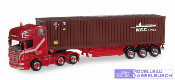 "Scania R TL 6x4 Container-Sattelzug ""Weeda / WEC Lines"" (NL)"