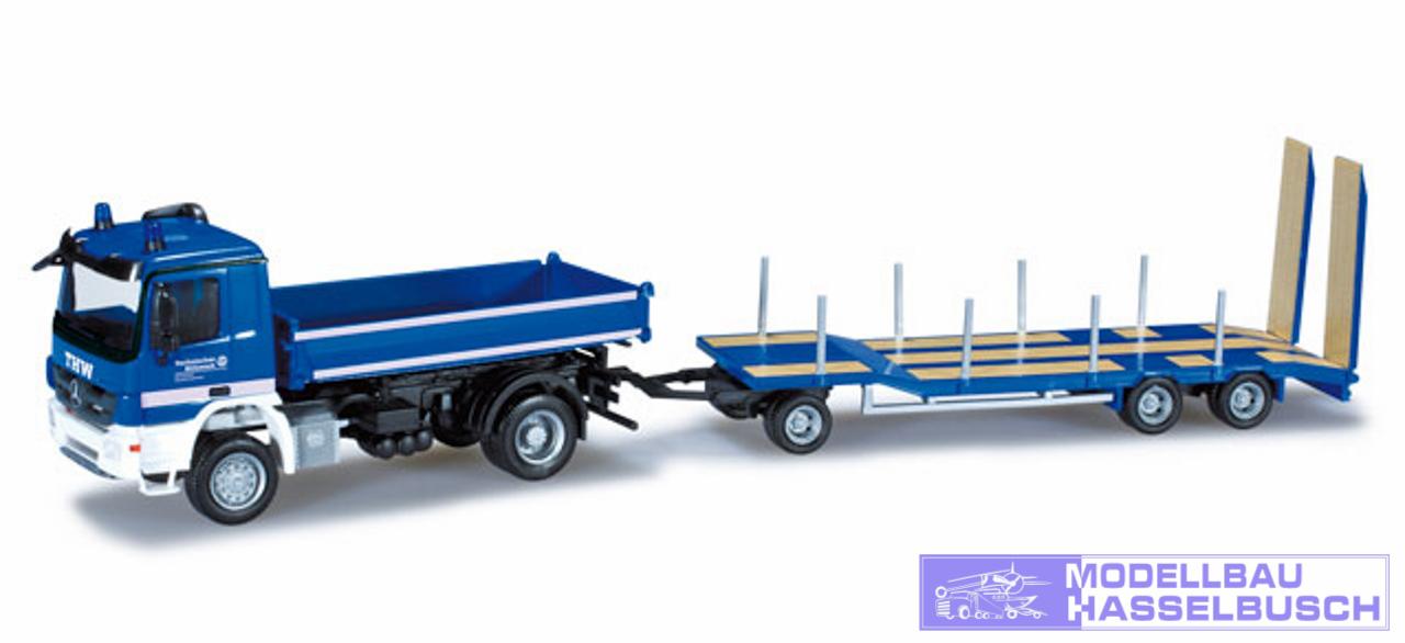 Miniaturmodell Goldhofer TU 3 Anh/änger Herpa 076142-004