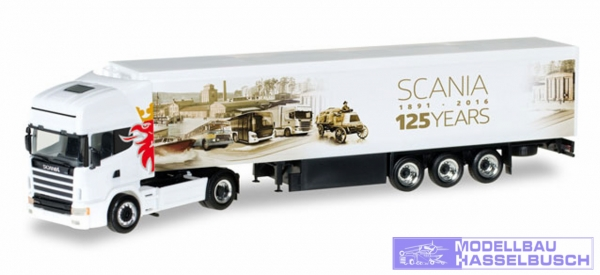 "Scania 124 TL Schubboden-Sattelzug ""125 Jahre Scania"""