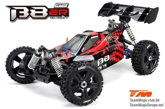 Auto - 1/8 Elektrisch - 4WD Buggy - RTR - 2500kv Brushless Motor - 4S - Wasserdicht - Team Magic B8E