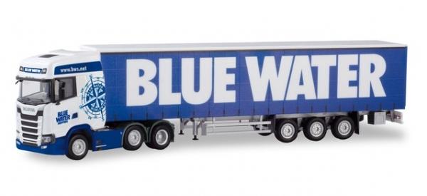"""Scania CS 20 HD 6×2 Gardinenplanen-Sattelzug """"Blue Water"""" DK)"""